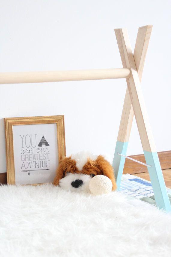 Popular T rkis aus Holz Babygym stilvolle Kinderzimmer Dekor von Zummbi