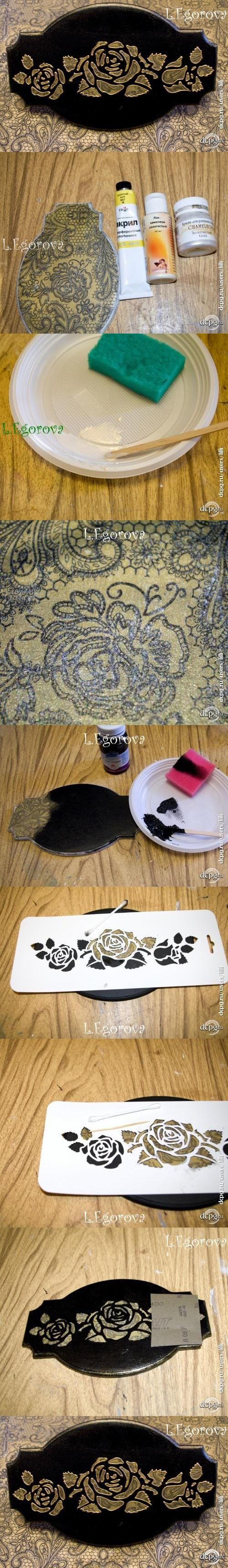 "Декупаж - Сайт любителей декупажа - DCPG.RU | Мини-МК ""Декупажный перевёртыш"" Click on photo to see more! Нажмите на фото чтобы увидеть больше! decoupage art craft handmade home decor DIY do it yourself tutorial Materials and techniques: napkin varnish acrylic paint etc."