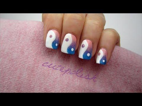 Ombre Yin Yang Nails - YouTube