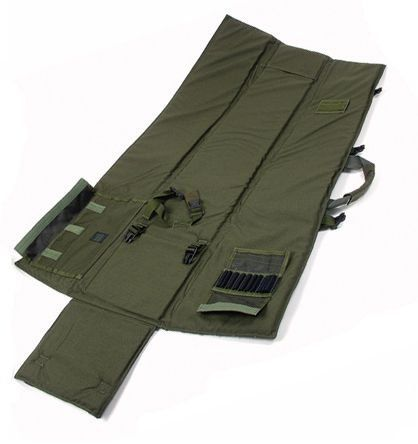 "BLACKHAWK! Stalker Drag Mat - Olive Drab by BlackHawk. $99.99. Perfect for use as a shooting mat, rifle carry case, or drag bag, the BLACKHAWK! Stalker Drag Mat is meant for the true operator.  The mat is constructed of 1000 denier nylon and .5"" closed-cell foam and offers a detachable shoulder strap with HawkTex pad.    Features:  Interior weapon-securing straps; elastic loops to hold 10 rounds of .308 ammo with protective flap; full wraparound carry handles m..."