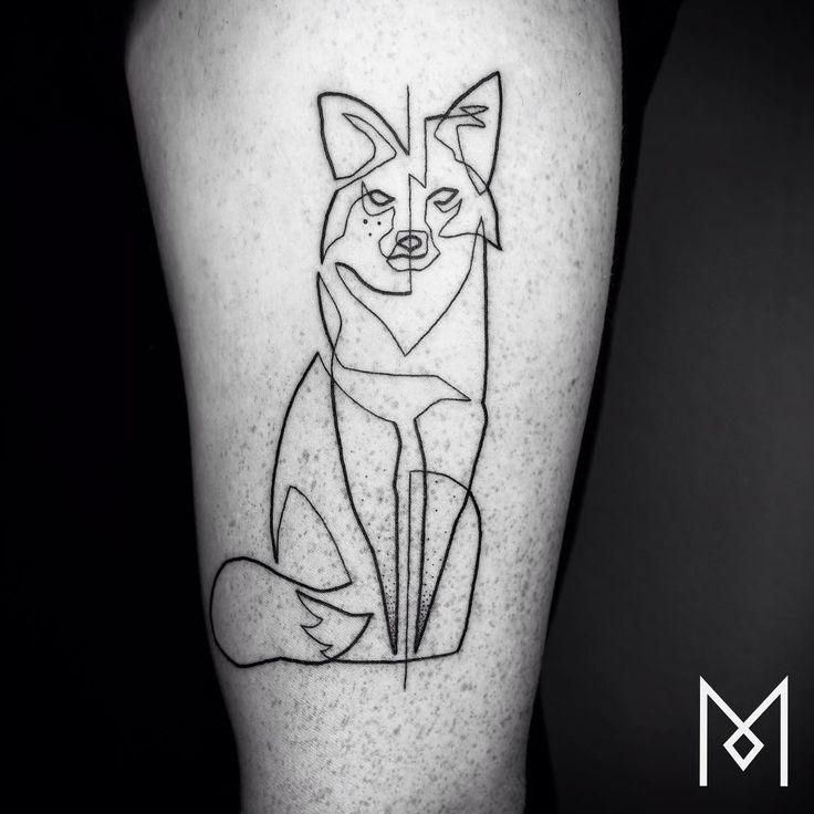 tatuaggi a una linea