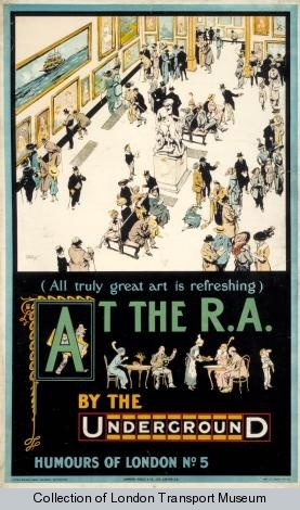 At the R.A. by the Underground (All Truly Great Art is Refreshing) by Tony Sarg, 1913