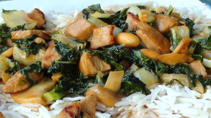 Lyndsay The Kitchen Witch: Stir Fried Pork with Baby Bok Choy and Peanuts