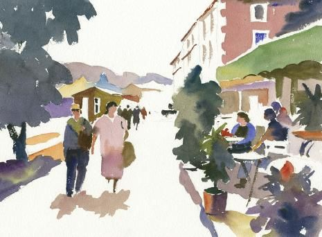 How to Paint People and Figures in Watercolour Townscapes | Features | Painters Online