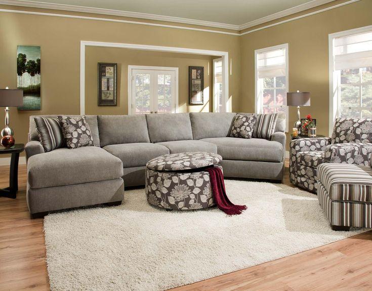 Corinthian josephine seal sectional sofa with 4 seats for Home sweet home sofa