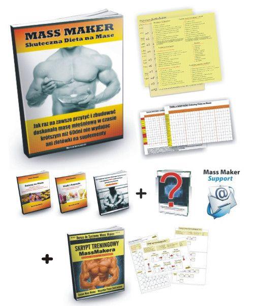 Skuteczna dieta na przyrost masy mięśniowej - System Mass Maker to prawdopodobnie Pierwszy w Polsce Kurs Internetowy uczący krok po korku Jak Przytyć nawet do 10kg w 2 miesiące, bez sterydów, bez suplementów, bez skomplikowanych diet.