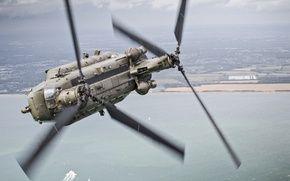 Обои полет, вертолёт, транспортный, военно, Chinook, CH-47