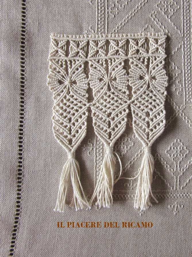 The Pleasure of embroidery: Macramè evidence for a new job