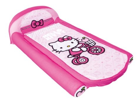 Amazon.com: Hello Kitty My First Ready Bed a Sleepover Solution including Inflatable Mattress and Sleeping Bag: Toys & Games
