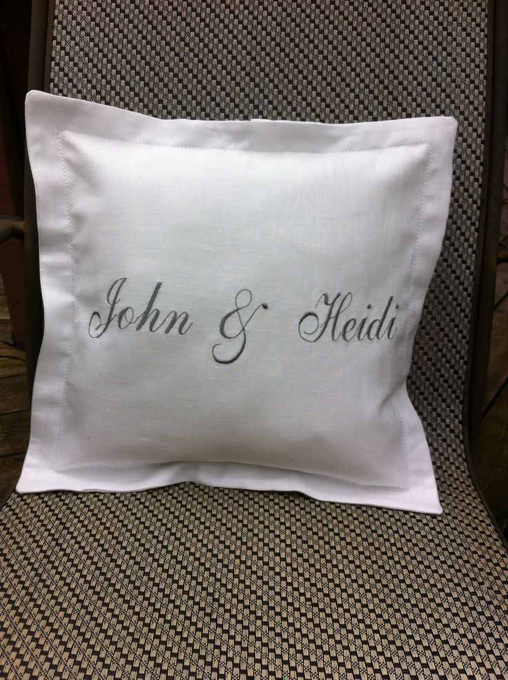 Create that personal gift- custom made monogrammed pillows are always a hit! see morehttps://www.facebook.com/MichellesSewbiz/posts/720730424641249 25.00 and up