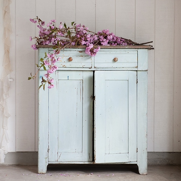 Rachel Ashwell Shabby Chic Couture - Pale Green Cabinet - SOLD
