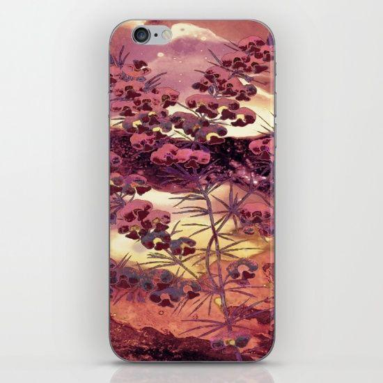 pink Christmas landscape iPhone & iPod Skin