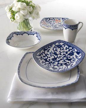 """Lauren Ralph Lauren Four-Piece """"Mandarin"""" Dinnerware Place Setting - traditional - Dinnerware Sets - Horchow"""