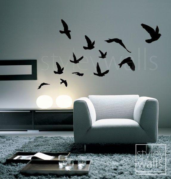 Flying Birds Wall Decor best 25+ bird wall art ideas only on pinterest | pistachio shells
