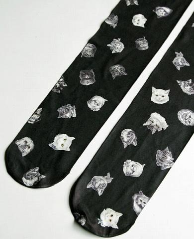 cat print tights