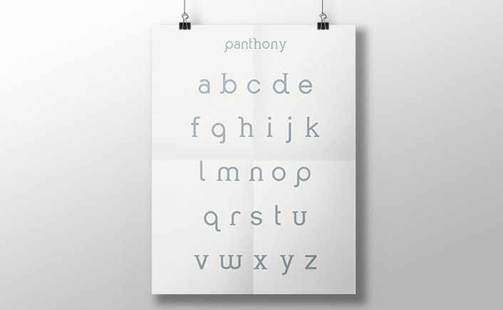 The result of a creative curiosity, IYBI's latest font Panthony is full of quirky personality and exclusively available for free download on dafont