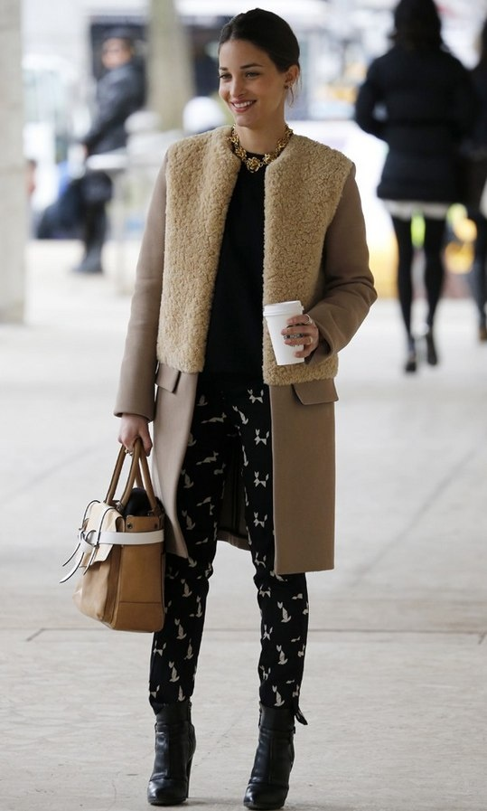 Sheepskin coat and great pants