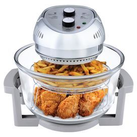"Essential oil-free fryer features 2 trays and 3 cooking elements. Combines infrared, carbon heat and convection technology  Dimensions: 16"" H x 12.5"" W x 13.5"" D"