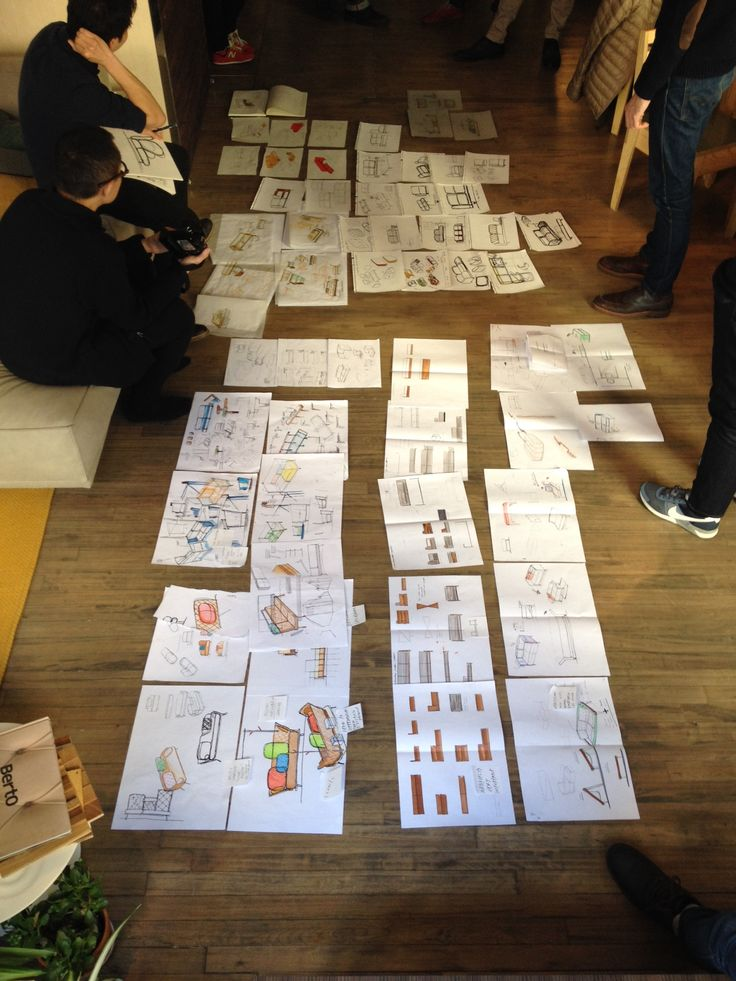 12 IDEO designers at work for the first part of the crowd-crafting project #sofa4manhattan, by Design-Apart.