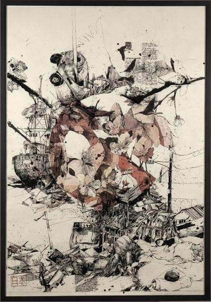 Disaster in Japan through two drawings – Simon Prades