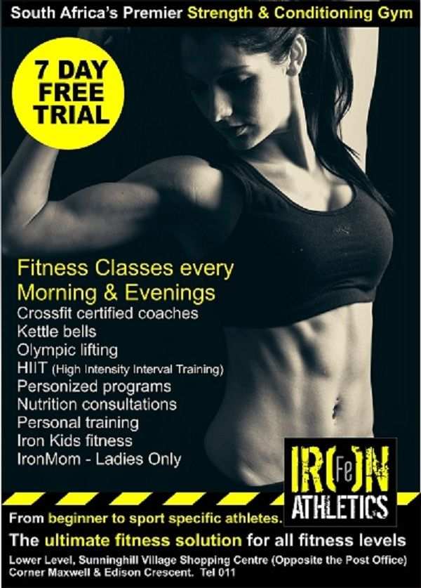 Iron Fitness Classes ladies and gents come and get your summer bodies now before it is to late contact Raymond 0832336878 or Raymond@ironathletics.co.za