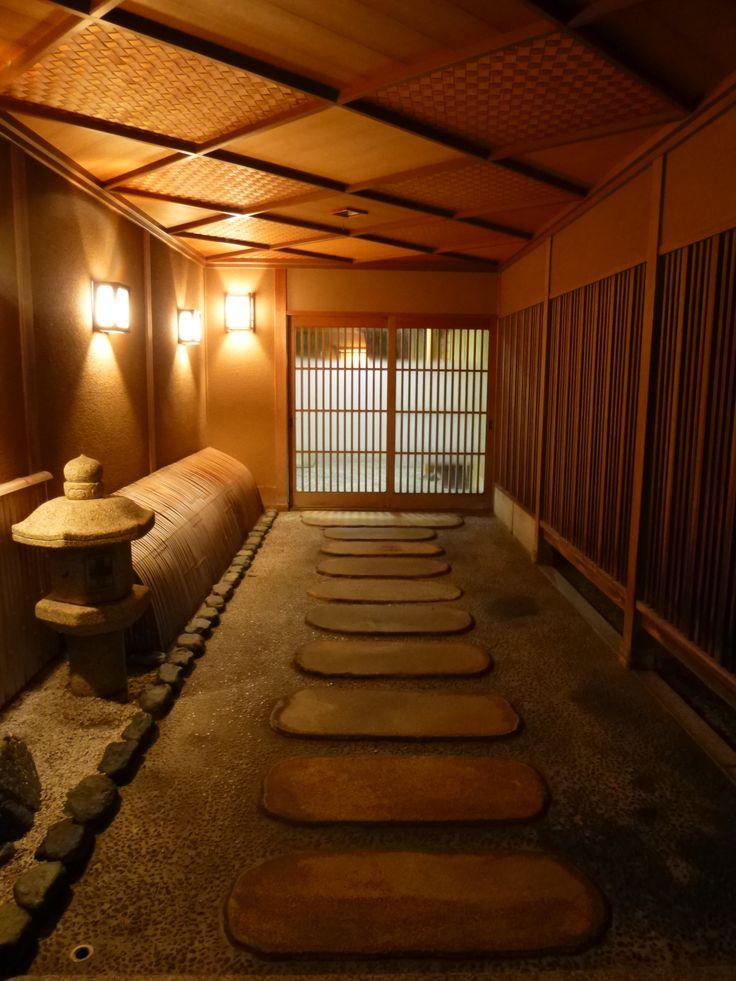 Gate of Japanese restaurant Chayamati Kanazawa Japan