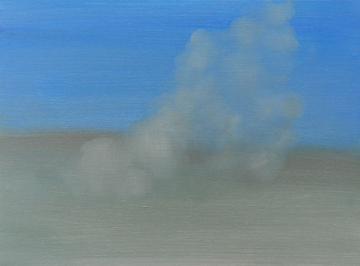 Dust Storm,  oil on board, 195 x 145 mm, 2014, (private collection)