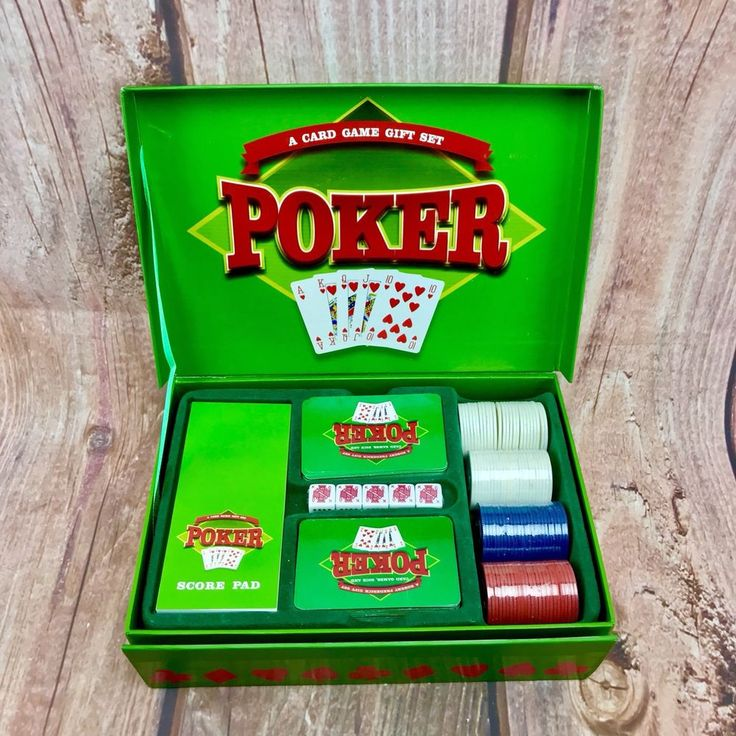 A Card Game Gift Set Poker 2 cards Dice & 3 Sets Of Chips Still Sealed All Boxed
