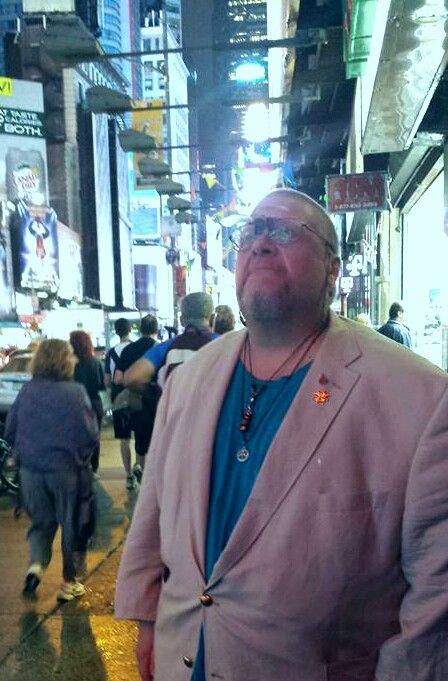 Me hanging out at Times Square.