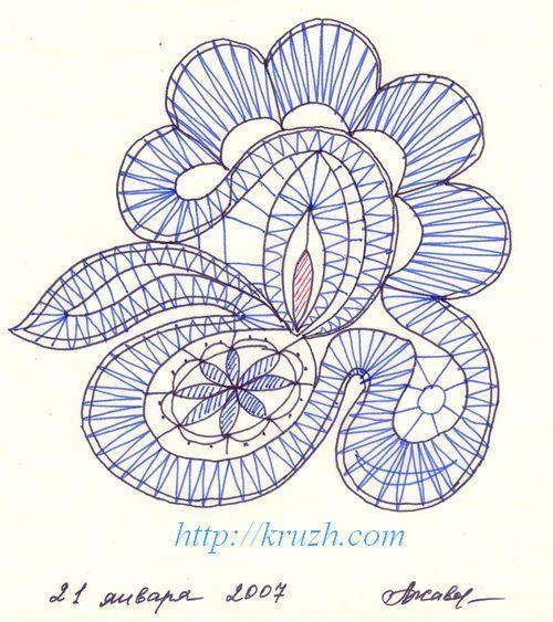 bobbin lace pattern http://kruzh.com/en/?s=pricking