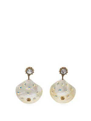 6fae23ef2 GG mother-of-pearl drop earrings | Gucci | MATCHESFASHION.COM US ...