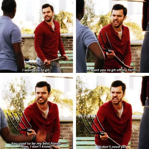 New girl Nick just being Nick with Winston