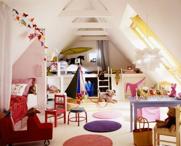 If you need a space just for the kids, a playroom is a great way to make use of a loft conversion.