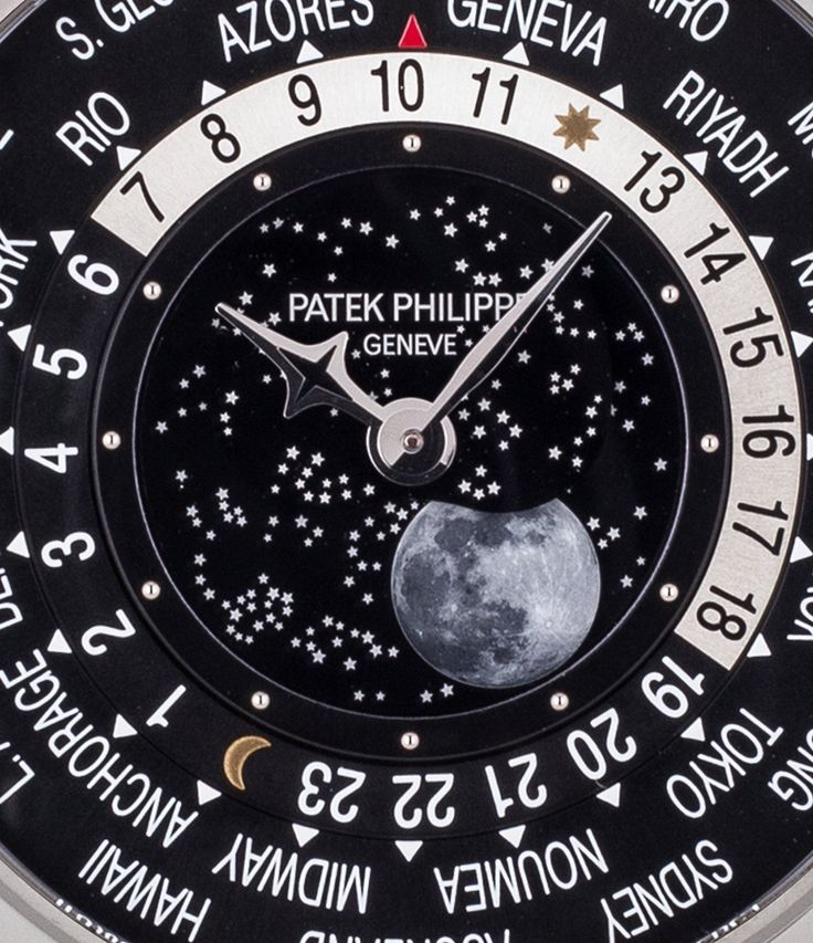 Patek Philippe Worldtime Moonphase 5575G 175th Anniversary watch at A Collected Man London