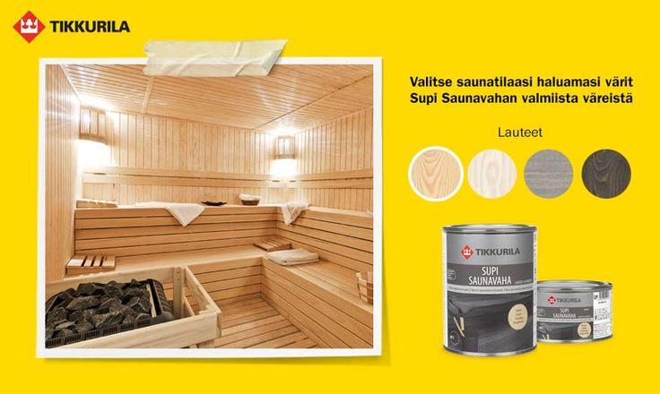 Löytyykö sinunkin kotoasi kulahtaneen keltainen sauna? Vaihtoehtoja löytyy, vaikka budjetti ei sallisi suurempaan remppaa. Uutta väriä ja vinkkejä saunaan!