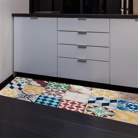 Alfombra vin lica mosaico vintage de floorart 50 x 120 cm - Alfombra de coco ikea ...