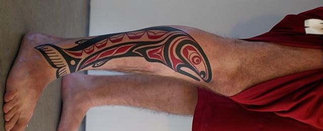 30 Tribal Fish Tattoo Designs For Men – Cool Aquatic Ink Ideas #Men_s_Style_And_Fashion