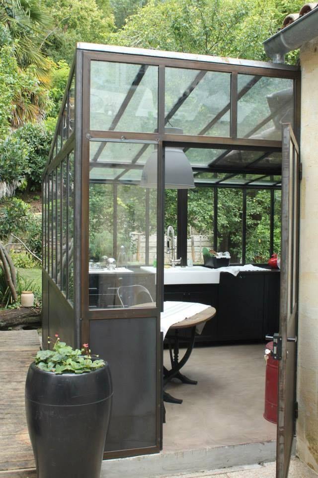 Veranda tout acier et double vitrage (con imágenes) | Jardín de invierno, Espejos en la sala ...