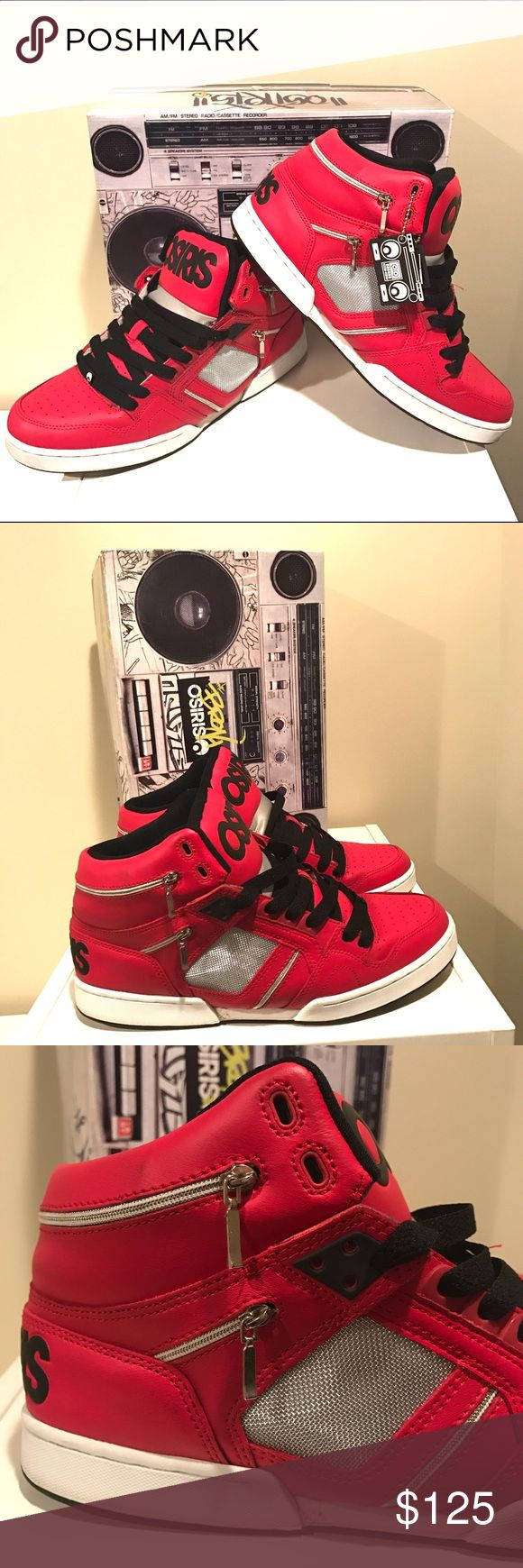 "OSIRIS Bronx ""Beat It"" Michael Jackson Shoe These  Bronx ""Beat It"" shoes are a must have addition to any Osiris collection!  They feature zipper details and a silver mesh side panel, inspired by Michael Jacksons Beat It video.  Come in original box. EUC. Very Rare. No Trades. Osiris Shoes Sneakers"