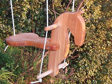 Photo of a horse swing