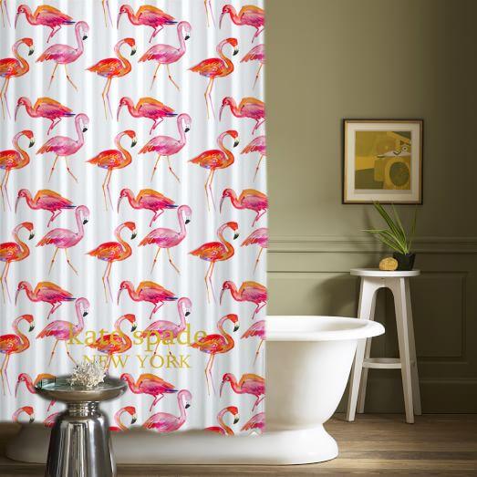 "Kate Spade Pink Flamingo Pattern High Quality Custom Shower Curtains 60"" x 72"" #Unbranded #Modern #New #Hot #Best #Custom #Design #Home #Decor #Bestseller #Bestselling #Kid #Art #Color #Brand #Branded #Trending #2017"