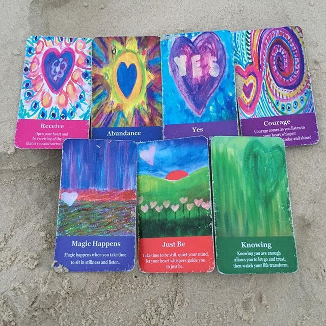 How can I 10X what I do today?  I shuffled the cards and the reading amazed me. So powerful.  I was sitting at the beach- maybe i will go 5 am at the beach more often  Allow yourself to RECEIVE the love that is you and surrounds you. Then the ABUNDANCE will flow. YES you can do this.  The COURAGE that you know is within has you stepping up and shining. MAGIC HAPPENS and as you take time to JUST BE. Do the inner work that has you fully KNOWING you are more than enough.  Todays journal prompt…