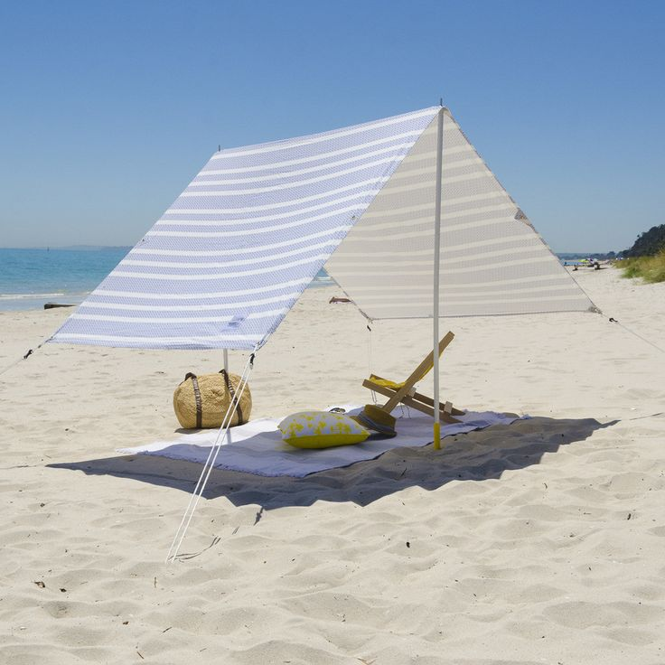 Designed for fun day at the Beach. The carry case creates easy transport, a easy quick set-up, and enough room for the entire family. The beach tent lets you relax in the sun(shade) in style. The alum