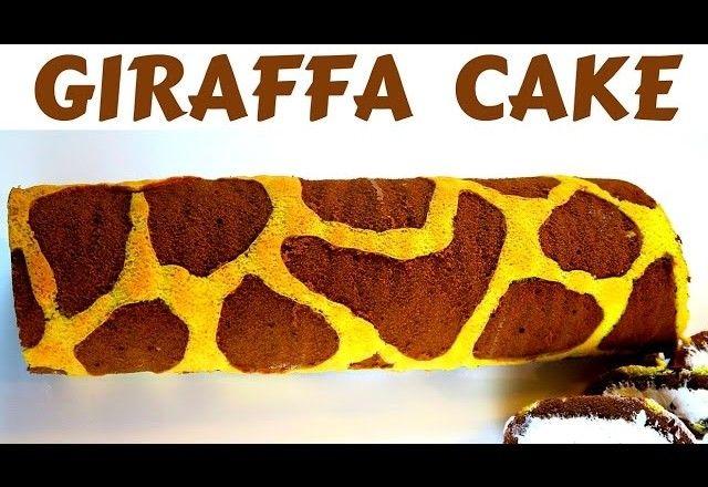 TORTA GIRAFFA FATTA IN CASA DA BENEDETTA – Homemade giraffe cake roll