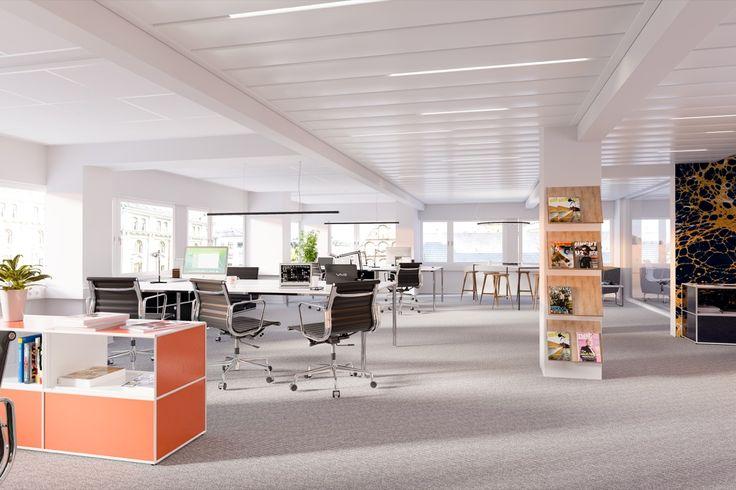 Norway Office,  PS,  Interior design, Scandinavian design, 3D visualisation, render, archive, PS, 3Ds Max, modern design, styling
