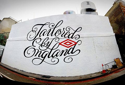 Tailored By EnglandWall Art, England, Pretty Types, Street Art, Typography Design, Graphics Design, Hands Letteringtypographi, Streetart, House Industrial