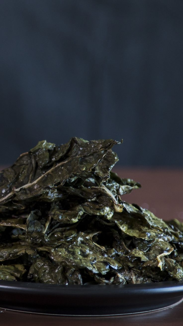 Enjoy the crunch of salt and vinegar Swiss chard chips without the guilt.