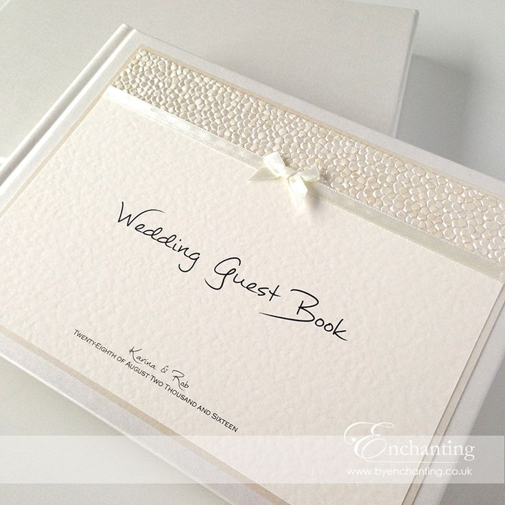 Ivory Wedding Stationery | Bespoke Design   Guest Book | Featuring Ivory  Pebble Paper, Bridal