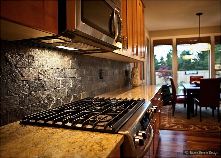 Brown Subway Tile Kitchen Backsplash Subway Slate