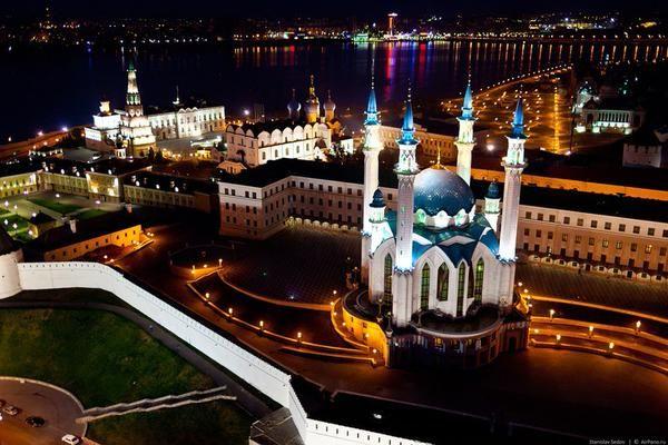 Невероятный вечерний город Казань